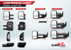 Clearview Next Gen Towing Mirrors For Chevrolet Colorado, 2014 - On