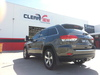 Rear shot of Jeep Grand Cherokee with Clearview towing mirrors