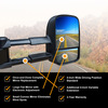 Clearview towing mirror features graphic