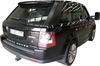 Rear view of Clearview towing mirrors for Range Rover Sport