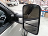 Close-up mirror view of Clearview towing mirror for Range Rover Sport