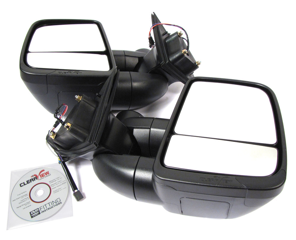 Clearview Next Gen Towing Mirrors For Jeep Grand Cherokee, 2010 - On