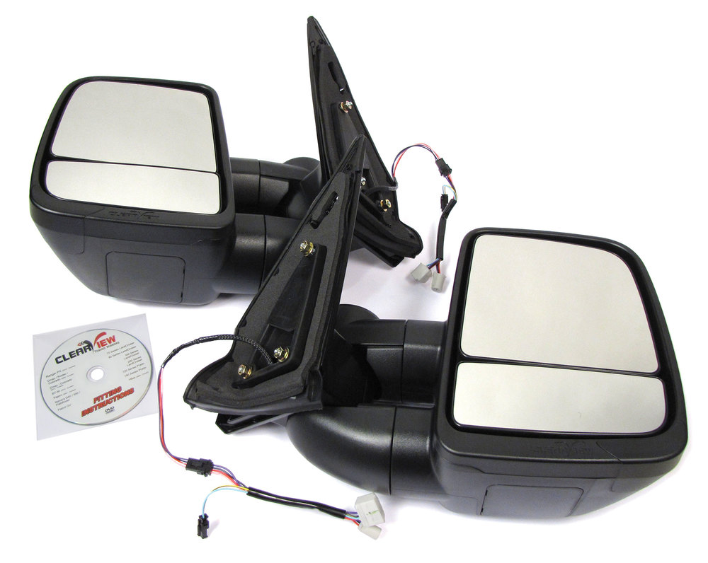 Clearview Next Gen Towing Mirrors For Toyota Land Cruiser 200 Series, 2008 - On
