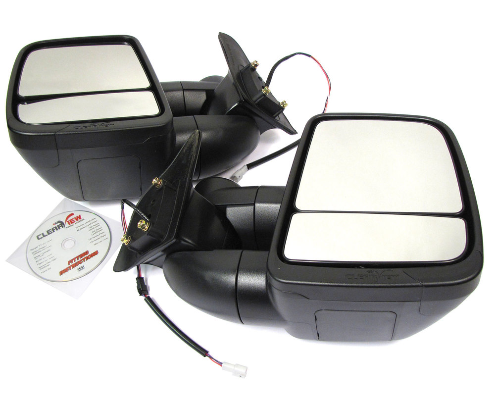Clearview Towing Mirrors, 1st Gen, For Toyota Land Cruiser 80 Series, 1990 - 1997