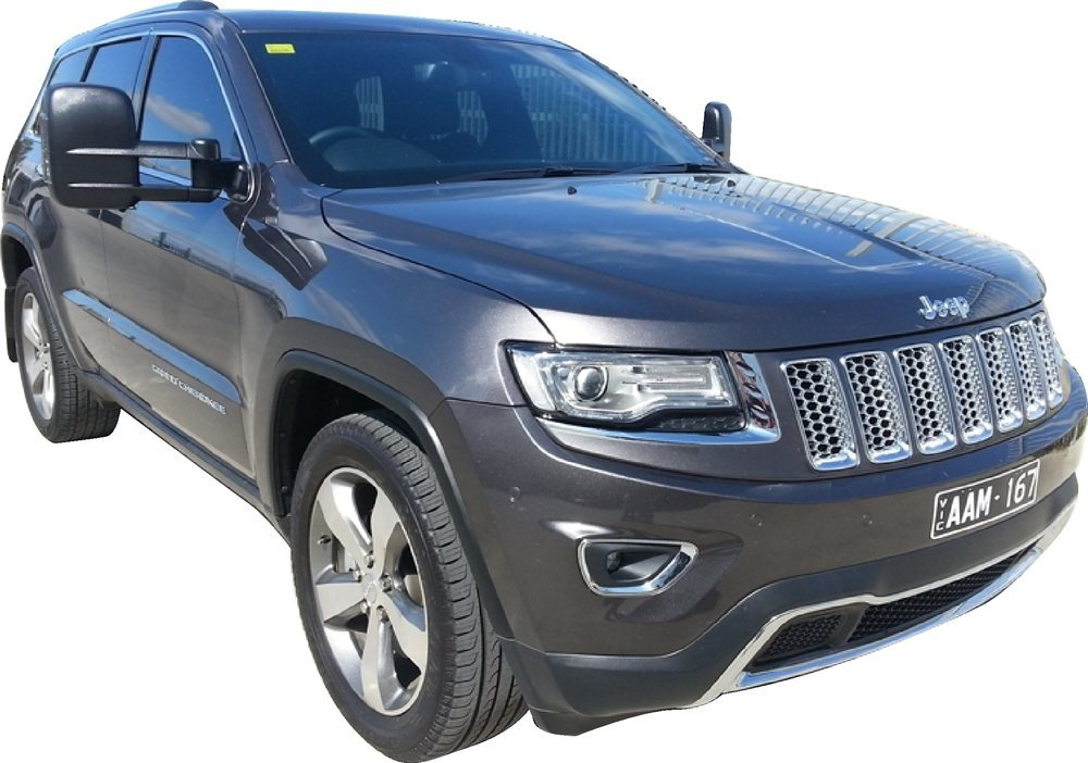 Clearview towing mirror Jeep Grand Cherokee product shot front view