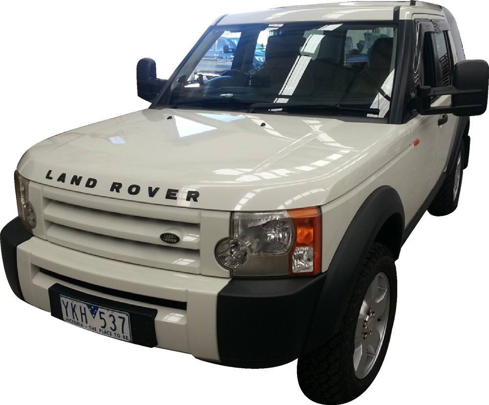Clearview towing mirror on LR3 from right side view
